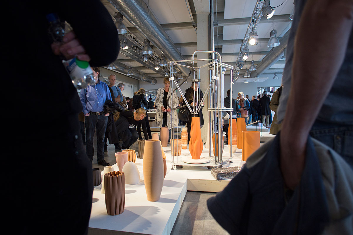 3D printed ceramics Design Academy graduation show Dutch Design Week.