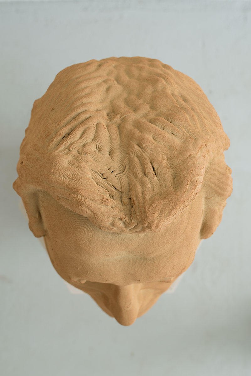 3D printed ceramics portrait head