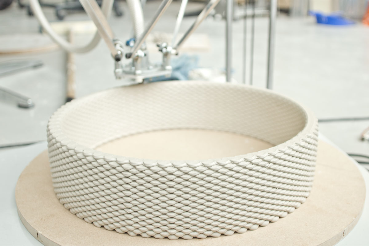 3D printing ceramics clay texture & Functional 3D Printed Ceramics - Olivier van Herpt